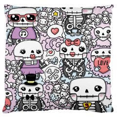 Kawaii Graffiti And Cute Doodles Large Flano Cushion Case (one Side)