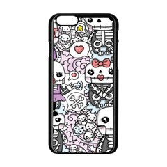 Kawaii Graffiti And Cute Doodles Apple Iphone 6/6s Black Enamel Case by Nexatart