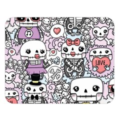 Kawaii Graffiti And Cute Doodles Double Sided Flano Blanket (large)