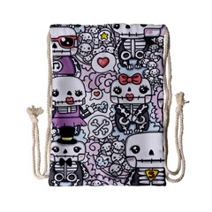 Kawaii Graffiti And Cute Doodles Drawstring Bag (small) by Nexatart
