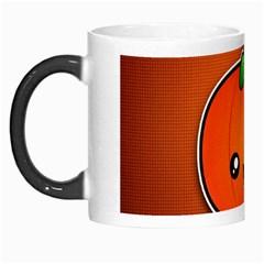 Simple Orange Pumpkin Cute Halloween Morph Mugs by Nexatart