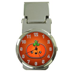 Simple Orange Pumpkin Cute Halloween Money Clip Watches by Nexatart