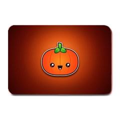 Simple Orange Pumpkin Cute Halloween Plate Mats by Nexatart