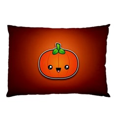 Simple Orange Pumpkin Cute Halloween Pillow Case