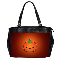 Simple Orange Pumpkin Cute Halloween Office Handbags (2 Sides)  by Nexatart
