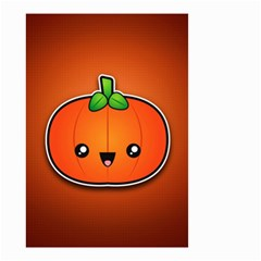 Simple Orange Pumpkin Cute Halloween Small Garden Flag (two Sides) by Nexatart
