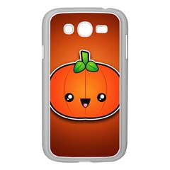 Simple Orange Pumpkin Cute Halloween Samsung Galaxy Grand Duos I9082 Case (white) by Nexatart