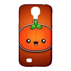 Simple Orange Pumpkin Cute Halloween Samsung Galaxy S4 Classic Hardshell Case (pc+silicone)