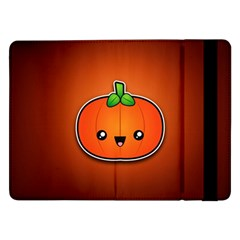 Simple Orange Pumpkin Cute Halloween Samsung Galaxy Tab Pro 12 2  Flip Case