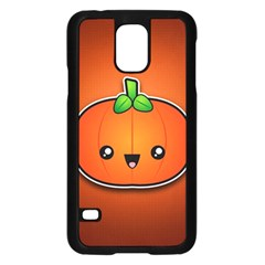 Simple Orange Pumpkin Cute Halloween Samsung Galaxy S5 Case (black)