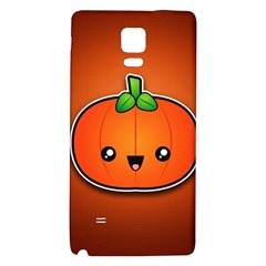 Simple Orange Pumpkin Cute Halloween Galaxy Note 4 Back Case