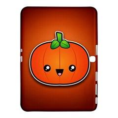 Simple Orange Pumpkin Cute Halloween Samsung Galaxy Tab 4 (10 1 ) Hardshell Case  by Nexatart