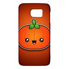 Simple Orange Pumpkin Cute Halloween Galaxy S6