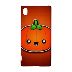 Simple Orange Pumpkin Cute Halloween Sony Xperia Z3+