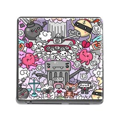 0 Sad War Kawaii Doodle Memory Card Reader (square)