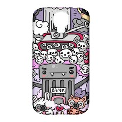 0 Sad War Kawaii Doodle Samsung Galaxy S4 Classic Hardshell Case (pc+silicone) by Nexatart
