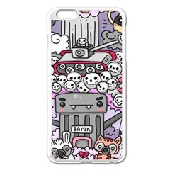 0 Sad War Kawaii Doodle Apple Iphone 6 Plus/6s Plus Enamel White Case