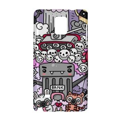 0 Sad War Kawaii Doodle Samsung Galaxy Note 4 Hardshell Case by Nexatart