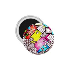 Beautiful Colorful Doodle 1 75  Magnets by Nexatart