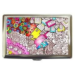 Beautiful Colorful Doodle Cigarette Money Cases