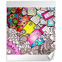 Beautiful Colorful Doodle Canvas 11  X 14   by Nexatart