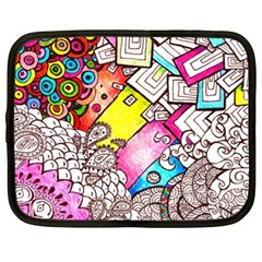 Beautiful Colorful Doodle Netbook Case (xl)