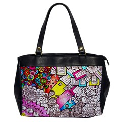 Beautiful Colorful Doodle Office Handbags by Nexatart