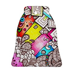 Beautiful Colorful Doodle Ornament (bell) by Nexatart