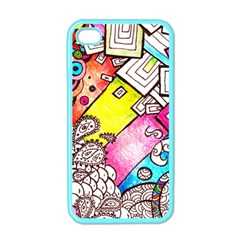 Beautiful Colorful Doodle Apple Iphone 4 Case (color) by Nexatart
