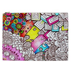 Beautiful Colorful Doodle Cosmetic Bag (xxl)  by Nexatart