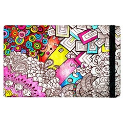 Beautiful Colorful Doodle Apple Ipad 3/4 Flip Case by Nexatart