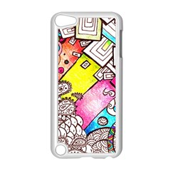 Beautiful Colorful Doodle Apple Ipod Touch 5 Case (white)