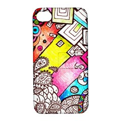 Beautiful Colorful Doodle Apple Iphone 4/4s Hardshell Case With Stand by Nexatart