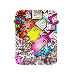 Beautiful Colorful Doodle Apple Ipad 2/3/4 Protective Soft Cases by Nexatart