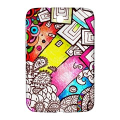 Beautiful Colorful Doodle Samsung Galaxy Note 8 0 N5100 Hardshell Case  by Nexatart