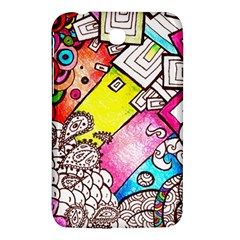Beautiful Colorful Doodle Samsung Galaxy Tab 3 (7 ) P3200 Hardshell Case  by Nexatart
