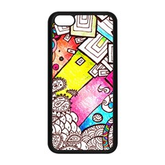 Beautiful Colorful Doodle Apple Iphone 5c Seamless Case (black) by Nexatart