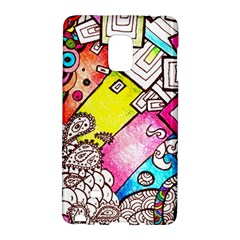 Beautiful Colorful Doodle Galaxy Note Edge by Nexatart