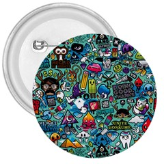Colorful Drawings Pattern 3  Buttons
