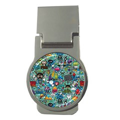Colorful Drawings Pattern Money Clips (round)  by Nexatart