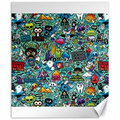 Colorful Drawings Pattern Canvas 8  X 10  by Nexatart
