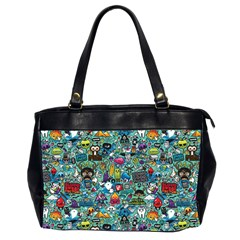 Colorful Drawings Pattern Office Handbags (2 Sides)  by Nexatart