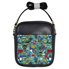 Colorful Drawings Pattern Girls Sling Bags by Nexatart
