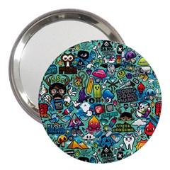 Colorful Drawings Pattern 3  Handbag Mirrors by Nexatart