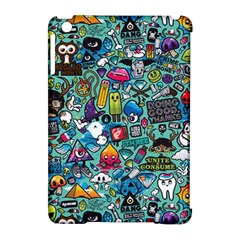 Colorful Drawings Pattern Apple Ipad Mini Hardshell Case (compatible With Smart Cover) by Nexatart