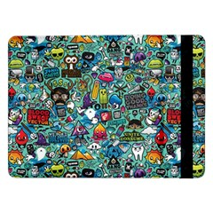 Colorful Drawings Pattern Samsung Galaxy Tab Pro 12 2  Flip Case