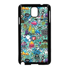 Colorful Drawings Pattern Samsung Galaxy Note 3 Neo Hardshell Case (black)
