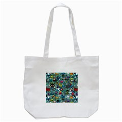 Colorful Drawings Pattern Tote Bag (white)