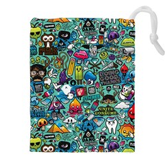 Colorful Drawings Pattern Drawstring Pouches (xxl)