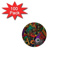Monsters Colorful Doodle 1  Mini Buttons (100 Pack)